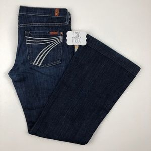 7 for all mankind dojo flare jeans 28x30